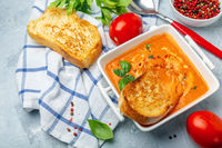 Homemade tomato soup.