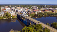 River Bridge into Historic Selma Alabama in Dallas County