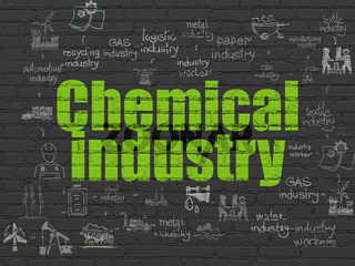 Industry concept: Chemical Industry on wall background