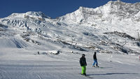 Winter in the Swiss Alps, ski resort Saas-Fee, Valais, Switzerland