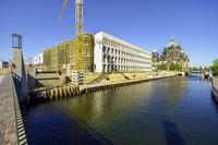 Building lot of Humboldt Forum, former Berlin Castle, Berlin, Germany