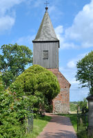 Church of Gross Zicker on Ruegen,baltic Sea,Mecklenburg western Pomerania,Germany