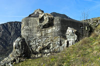 Deactivated bunker of the Swiss army, artillery fortification Follateres, fortress of Saint-Maurice