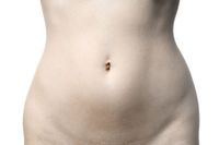 naked female stomach body part with belly button