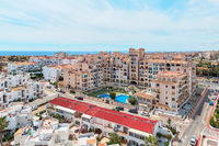 Torrevieja resort city architecture, aerial view, Spain