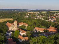 Aerial view of the Brake castle in North Rhine-Westphalia, Germany