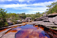 Cachoeira Da Fumaca, Smoke Waterfall, with little lake at the source, Chapada Diamantina National Park, Brazil