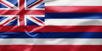 Waving state flag of Hawaii - United States of America
