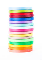The ribbons isolated on the white background