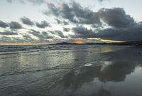 Sunset sky with clouds, Isabela Island, Galapagos Islands, Ecuador