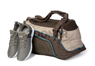 Sports bag and sneakers