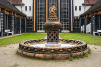 Jewellery fountain in the bathhouse 2 of the Art Nouveau spa Bad Nauheim