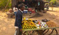 Bazaar on the streets of Agra