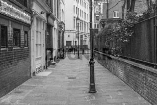 Empty street in London