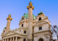 Church Karlskirche in Vienna Austria