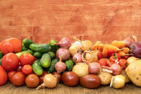 Healthy eating concept/organic vegetables on the  table