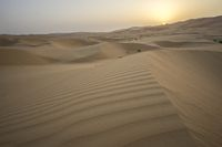Beautiful Rub al Khali desert at sunrise