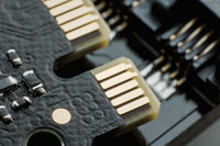 Electronic circuit blur computer board