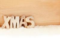 Xmas Buchstaben Text zu Weihnachten