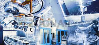 Moderne Produktion im Industrieunternehmen