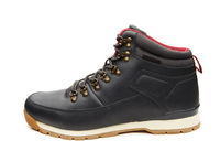 Close up view of a modern black man boot isolated