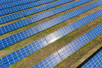 many panels of solar cells