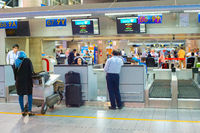 People at check-in, Tehran Airport