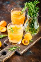 Summer drinks, rosemary aprcot cocktails.