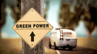Street Sign to Green Power
