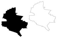 Bucharest County (Administrative divisions of Romania, Bucuresti - Ilfov development region) map vector illustration, scribble sketch Bucharest map
