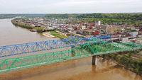 Dual Bridges Carry Highway 60 Traffic both Directions over the Ohio River