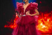 Fashion woman model runway show