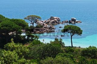 Aussicht Palombaggia - Tamaricciu - Korsika