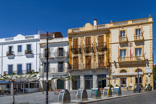Houses on the seafront, Cadaques, Spain