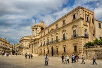 Altstadt von Syrakus in Sizilien, Italien