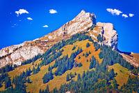 Pilatus mountain peak landscape and cliffs view