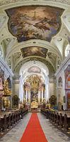 Interior of the basilica of the Wachau