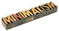 minimalism word in wood type