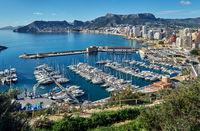 Port of Calpe. Spain