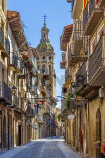Street in Puente la Reina, Spain