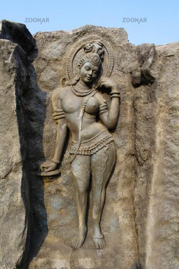 Ardhanari Nateshwar, Hadshi Temple, Sant Darshan Museum near tikona Vadgoan Maval, District Pune, Maharashtra, India