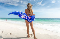 Female on beach -  Australian travel vacation