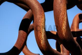 metalic rusty pipes