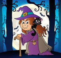Witch with cat topic image 6