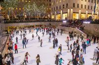Ice Skating at Rockefeller Center in NYC