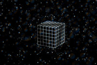 Wire frame cube. Connected dots and lines. connection structure. Vector 3d illustration.