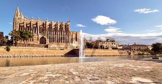 Exteror of Cathedral La Seu, Palma de Mallorca, Spain