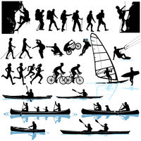 Recreational activities, mountaineering, hiking, kayaking, surfing, cycling