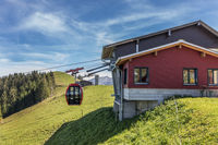 Mountain station of the aerial cableway Gummenalp, Nidwalden, Switzerland, Europe