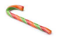 Colorful hard striped candy cane